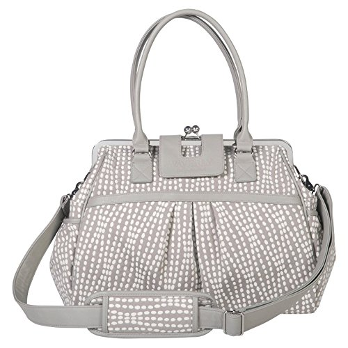 Waverly Baby by Trend Lab Strands Sterling Framed Diaper Bag, Gray, Cream