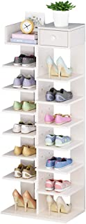 ZRL77y Shoe Rack Wooden Shoe Cabinet Multifunction Storage Shoe Shelf Space-Saving Lockers Household Assembly Shoe Rack (C...