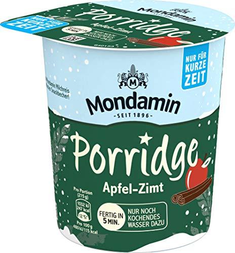 Mondamin Porridge Apfel-Zimt Becher, 8er Pack (8 x 65 g)