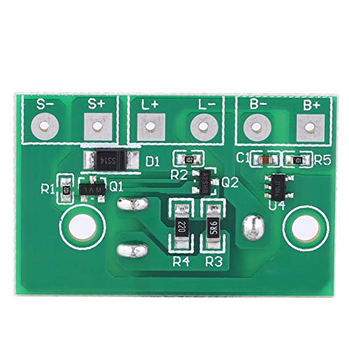 LANTRO JS - Módulo controlador de lámpara solar, placa de circuito de control de batería para lámpara solar, módulo controlador de luz nocturna, placa de circuito de control con interruptor