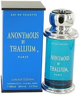 Anonymous by Thallium Eau de Toilette Spray 100ml/3.3oz for Men(Limited Edition)