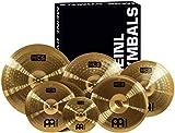 "Meinl Cymbals Super Set Box Pack with 14"" Hihats, 20"" Ride, 16"" Crash, 18"" Crash, 16"" China, and a 10"" Splash – HCS..."