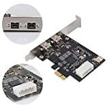fosa 100Mbps/200Mbps/400Mbps/800Mbps Video Capture Card PCI E to 3-Port 1394B Controller Card, FireWire