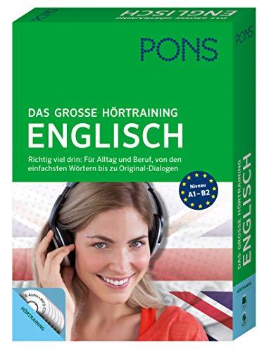 PONS Das große Hörtraining Englisch: Richtig viel drin! Von den einfachsten Wörtern bis zu Original-Dialogen in über 400 Minuten Spielzeit: Mit Buch und 6 Audio+MP3-CDs