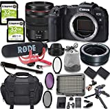 Canon EOS RP Mirrorless Digital Camera with RF 24-105mm Lens Kit + Mount Adapter + Video Accessory Bundle with Rode Video Go Mic, 64GB Memory, LED Light & More