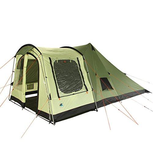 10T Campingzelt Tropico 4 wasserdichtes Tipi Tunnel-Zelt 4 Mann Kabine Vorraum Sonnendach