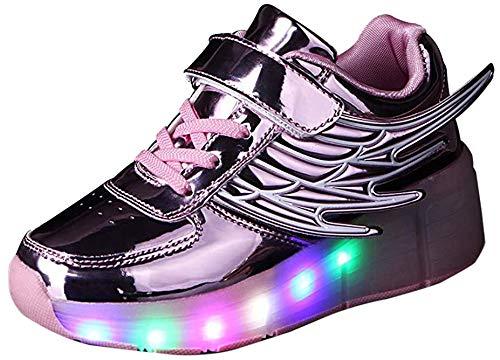 Led Luces Zapatos con Ruedas para Pequeños Niño y...