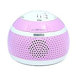 Homedics SS-MN101PK Sound Spa Mini Portable Sound Machine, Pink