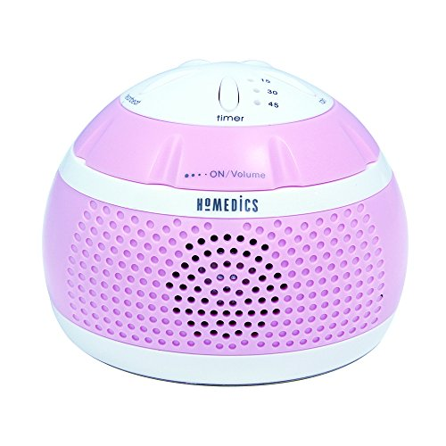Homedics SS-MN101PK Sound Spa Mini Portable Sound Machine, Pink