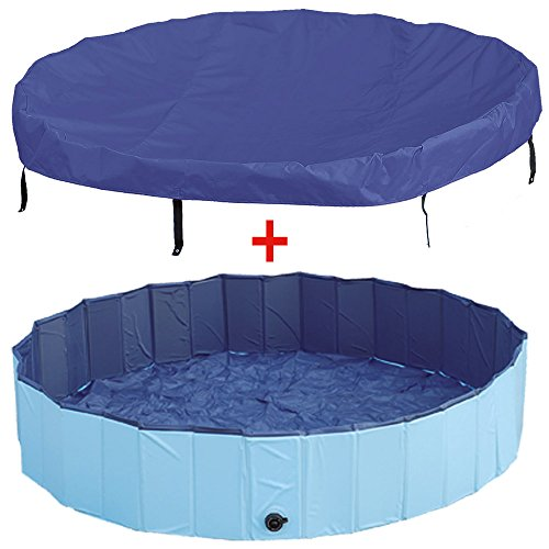 Aktion! Doggy-Pool + Abdeckung 160 cm Plaschbecken Pool Swimming Pool