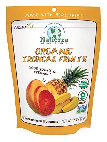 Natierra Nature's Organic Freeze-Dried Tropical Fruits | Gluten Free & Vegan | 1.5 Ounce