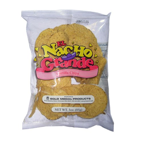 Gold Medal El Nacho Grande Portion Pak Nacho Chips (3 oz.) - 48 pk.