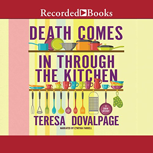 Death Comes in Through the Kitchen audiobook cover art
