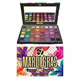 W7   Mardi Gras Pressed Pigment Palette   40 Colors: Pinks, Greens, Oranges, Reds, Yellows   Matte, Shimmer, Metallics   Rainbow, Pride, Festival Makeup   Vegan, Cruelty Free Makeup by W7 Cosmetics