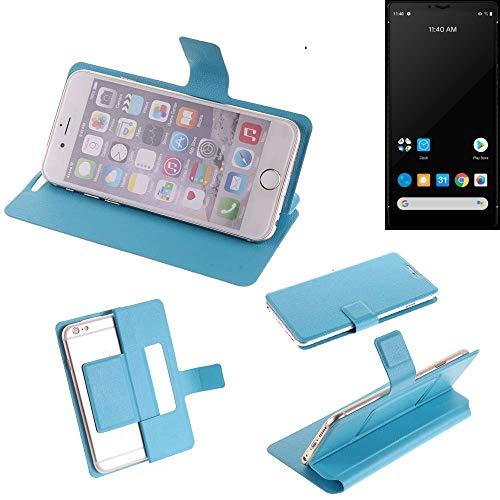 K-S-Trade® Flipcover Für Carbon 1 MKII Schutz Hülle Schutzhülle Flip Cover Handy Hülle Smartphone Handyhülle Blau