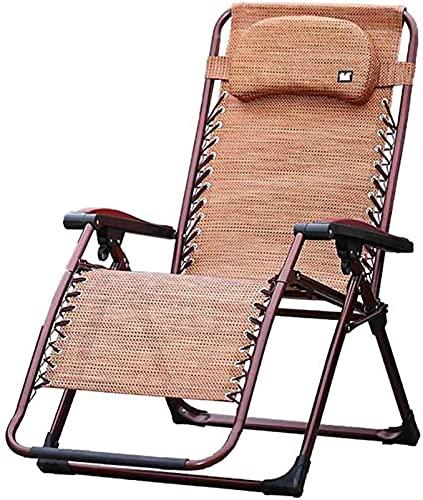 Patio Lounge Chairs Recliner Folding Sun Lounger Zero Gravity Deck Chair Garden Bed Reclining with Headrest Armchair