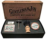 Gentleman Jon Complete Wet Shave Kit | Includes 6 Items: One Safety...