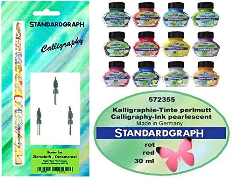 KalligraphieSet  Zierschriftfedernset  Federhalter  5 Perlmutt-Tinten, Farben wählbar B076JKS6VP | Großartig