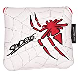 Golf Builder Spider Embroidery Golf Square Mallet Putter Head Cover Synthetic Leather Golf Mallet Cover with Magnetic Closure