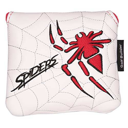 powerful Golf Builder Spiderman Embroidery Square Golf Hammer Club Headgear Synthetic Leather Golf Hammer…