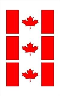 3 - Canadian Canada Flag Hard Hat Biker Helmet Stickers Decal