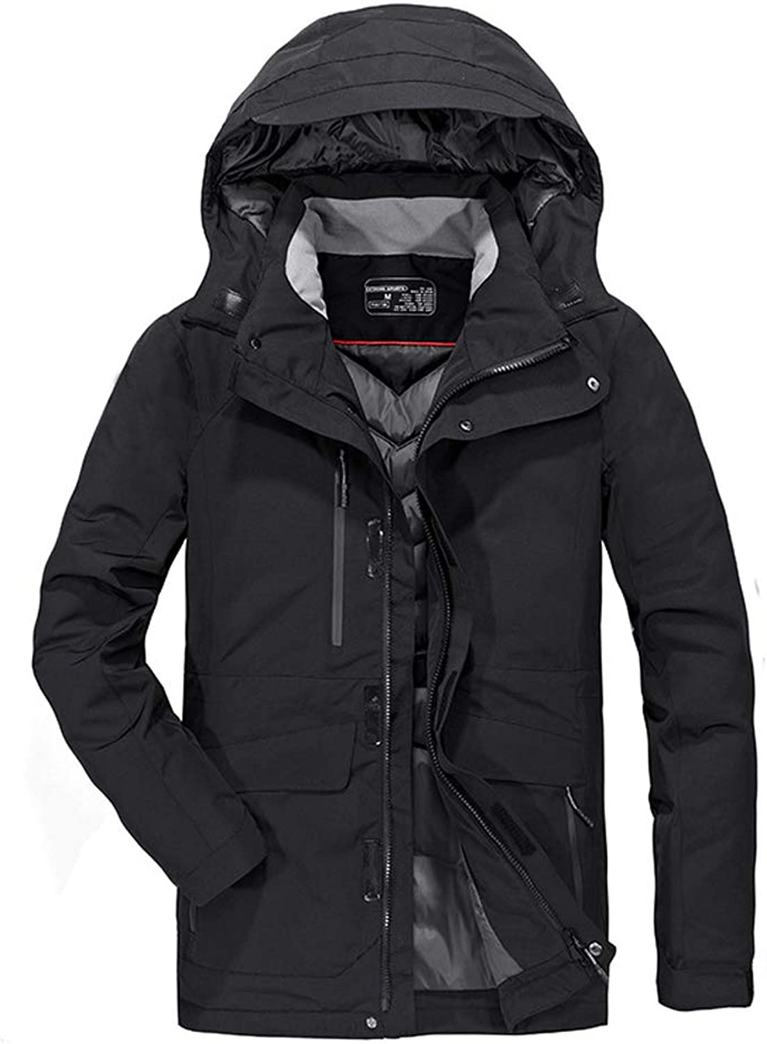 New Down Jacket, Men's Casual Short Thick Coat, Winter Outdoor Cold Warm Top, Suitable for Cold Weather (color   Black, Size   XL)