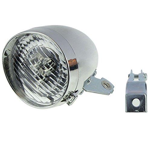 TriLance 1PC Fahrradlicht, Scheinwerfer, Fahrrad-Frontlicht, Fahrradlampe, Taschenlampe Sicherheitswarnung Vintage 3 LED Retro Fahrradlampe, Wasserdicht Fahrradlichter für Mountainbike (A)
