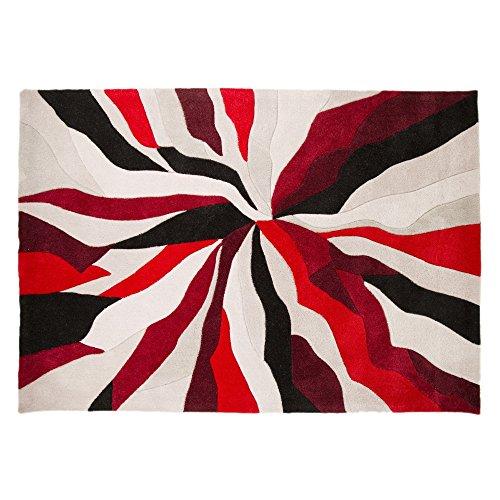 Alfombra de dos tonos, ancha Infinite Splinter de marca Flair Rugs, poliéster, Rojo, 160 cm x 220 cm