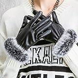Winter Womens Touchscreen Echtleder-Handschuhe, Damen weiche warme Handschuhe Outdoor Winddicht Radfahren Klettern Sport -