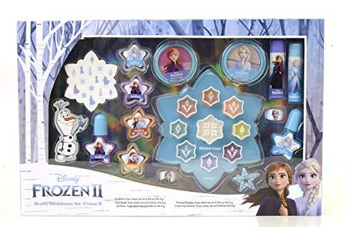 Frozen II Beauty Blockbuster Set - Set de Maquillaje para Niñas - Maquillaje Frozen - Neceser Maquillaje y Selección de Productos Seguros en una Caja Fashion