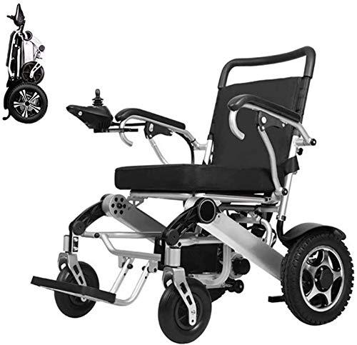 SOAR Electric Wheelchair Elektrorollstuhl Faltender Rollstuhl leichter tragbarer old-up elektrischer Rollstuhl, 360 ° Joystick, mit elektrischer Macht oder manueller Rollstuhl bis 20 Meilen für Behind