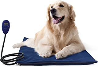 CWYPY Pet Bed Electric Heating Pad Dog Cat Warming Mat Blanket Heated Cushion Chew Resistant Cord and Removable Cover,UK