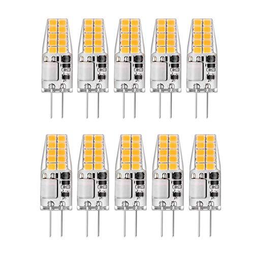 TXDIRECT KüHlschrank GlüHbirne Stiftsockellampe Led LED G4 Glühbirnen LED-Glühbirnen für die Innenbeleuchtung Glühbirnen für Haus Badezimmer Glühbirnen 4w,cool white-10pack