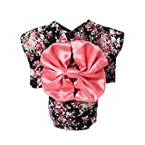 WeeH Dog Costume Halloween Cat Clothing Cosplay Japan Kimono Pet Clothes for Doggy Kitty Rabbits Pig Fun, Black, Small