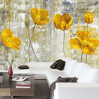 Custom 3D Wall Murals Wallpaper European Style Retro Abstract Flower Mural Art Living Room Bedroom Non-Woven Backdrop Wallpaper Mural Graffiti