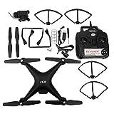 Quadcopter F68 Telecomando Drone 5MP HD Fotocamera 2000mAh Batteria One-Button Return Quadcopter Toy(Nero)