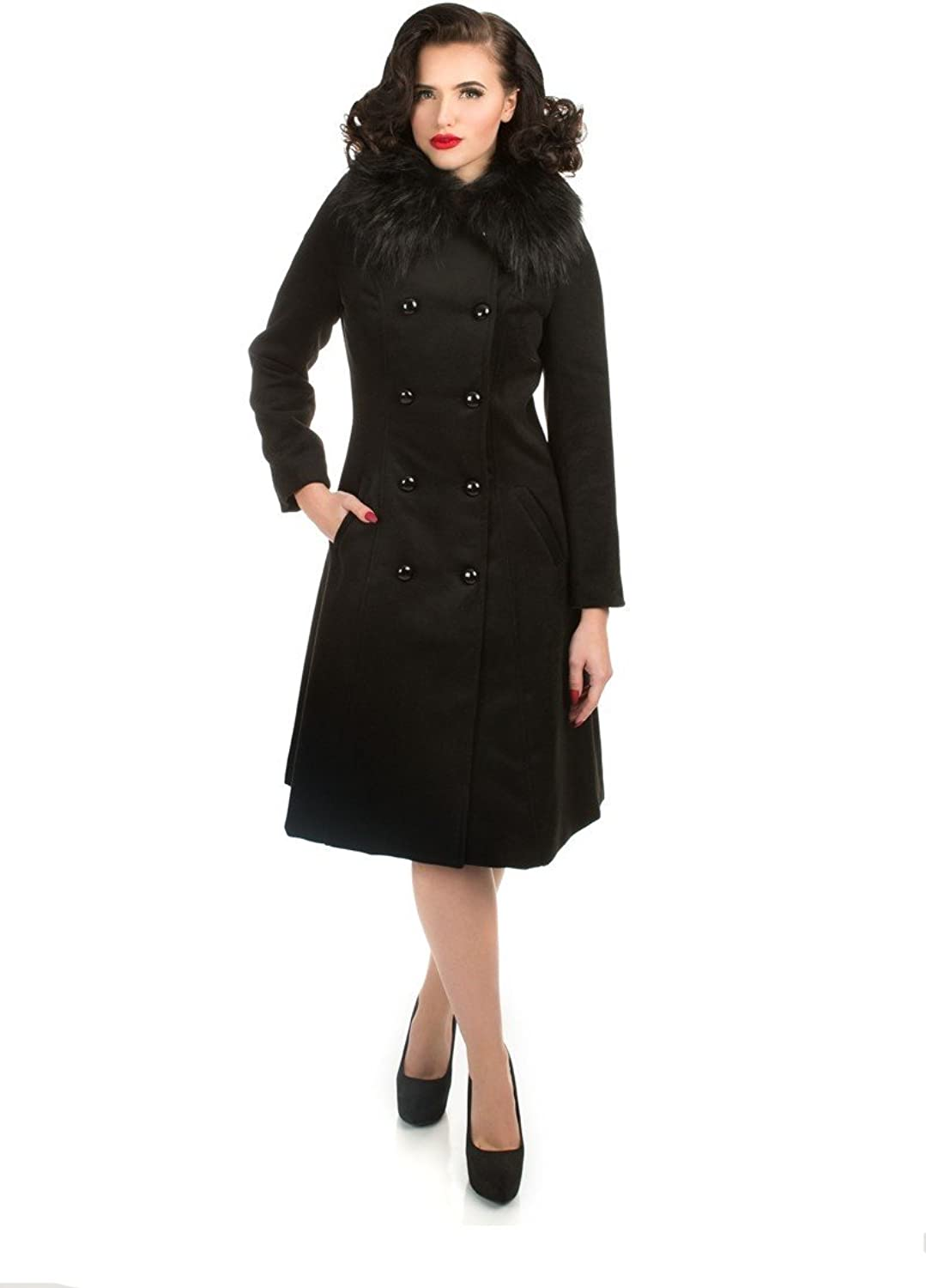 Hearts & pinks Chrissette Coat in Black (Shipped from The US and US Sizes)