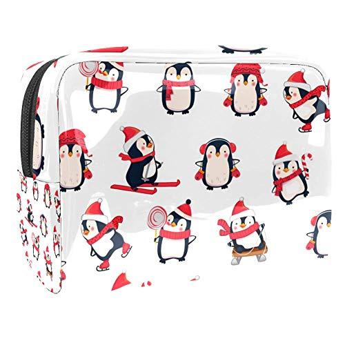 TIZORAX - Pingouin avec chapeau - Sacs cosmétiques - En PVC - Trousse de toilette de voyage - Organiseur pratique pour femme
