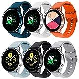 Sycreek Compatible pour Samsung Galaxy Active Bracelet Silicone Souple 20mm Bracelet Sport Bracelet de Remplacement Réglable pour Samsung Galaxy Watch 42mm/Gear Sport/Galaxy Watch 3 41mm