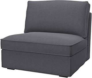Soferia Replacement Cover for IKEA KIVIK 1-seat Section, Fabric Classic Dark Grey