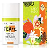 LILY SADO TEA+C Green Tea and Vitamin C Face Moisturizer - Natural Organic Vegan Facial Cream - Best Antioxidant, Anti-Wrinkle Moisturizing Lotion - Softens, Hydrates, Firms & Tones for Luscious , Radiant Skin. For Women & Men