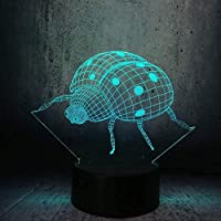 3Dベッドサイドランプ アクティブな動物3D Led USBランプ3Dかわいいイルカジャンプフラフープ形状サメ多色ナイトライトタッチコントローラー-A1680_接する