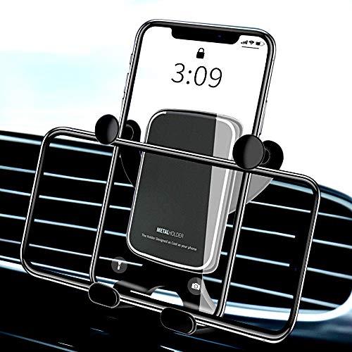 McNory Supporto Cellulare Auto, Smartphone Supporto Universale gravità in Alluminio Rotazione di 360° Porta Cellulare da Auto Presa dell'Aria,per Samsung S10 S9 iPhone XR X 8 7 P30 Mate 20 GPS ECC