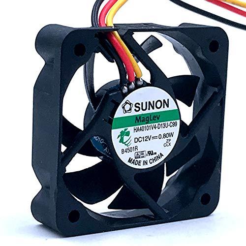 LONGJUAN-C 2 unids silencioso silencioso 40 mm de Ventilador Nuevo SUNON HA40101V4-D13U-C99 DC12V 0.80W 4CM 4010 TV Funda axial Fan de enfriamiento Ventilador