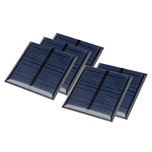 sourcingmap 5pz. 5,5 V 60mA poli- mini cella solare pannello modulo fai-da-te per caricabatterie Giocattoli telefono