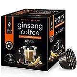 King Cup - 1 Paquete de 10 Cápsulas Compostable de Ginseng con Azúcar de Caña, 10 Cápsulas 100%...
