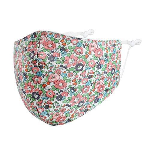 Mund-Nasen-Maske Soffmaske Behelfsmaske Blumen Blümchen 2 Farben Waschbar 100% Baumwolle Farbe Rosa