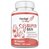 HerbalValley Super Weight Gain Natural Capsules for Men and Women, 60 Caps