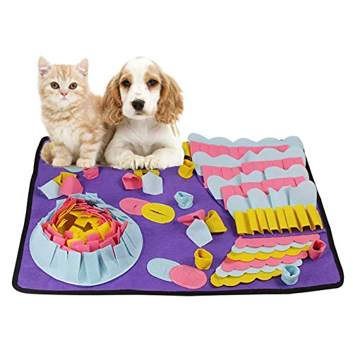 Amo-Lole Alfombrilla De Snuffle para Perros Alfombrilla De Alimentación para Mascotas Perros Rompecabezas Juguetes Alfombrilla De Entrenamiento para Cachorros