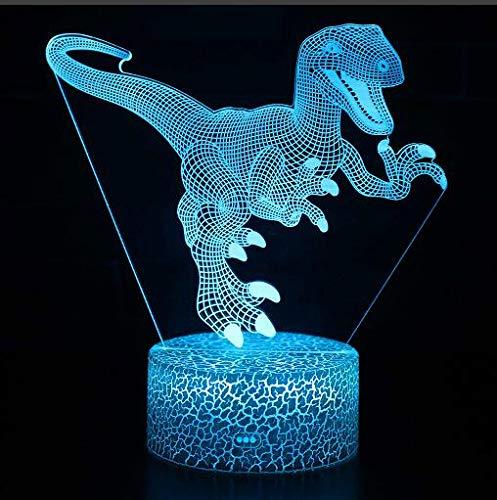 Apexflux (Tyrannosaurus Rex) - Luce notturna per bambini, lampada da comodino, con attacco USB, luce notturna a 7 LED che cambia colore, ideale come regalo per bambini, decorazione per la casa